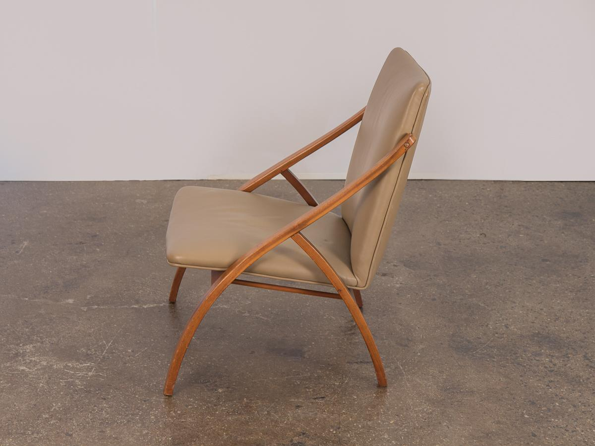 Swedish Armless Sculpted Lounge Chair