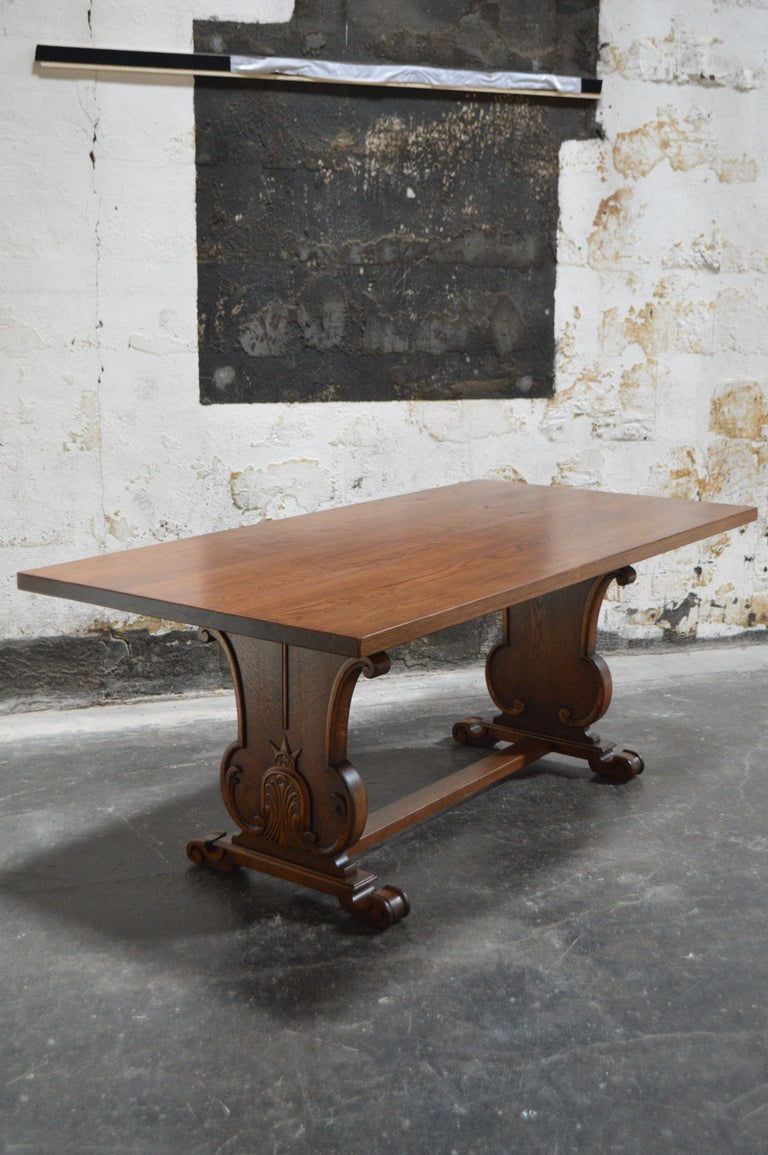 This style of trestle dining table was referred to in the Nordic countries as a