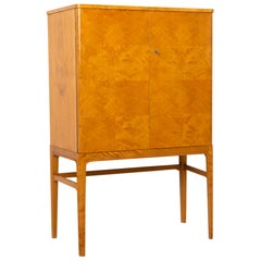 Swedish Art Deco Birch and Mahogany Cabinet