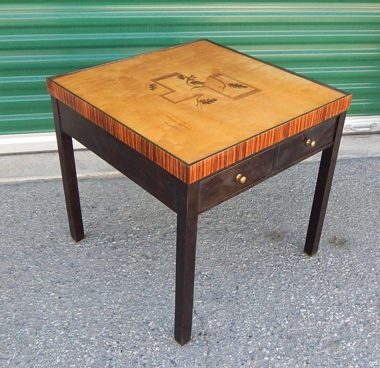 Swedish Art Deco Cubic Inlaid Side/End Table, circa 1930 For Sale 1