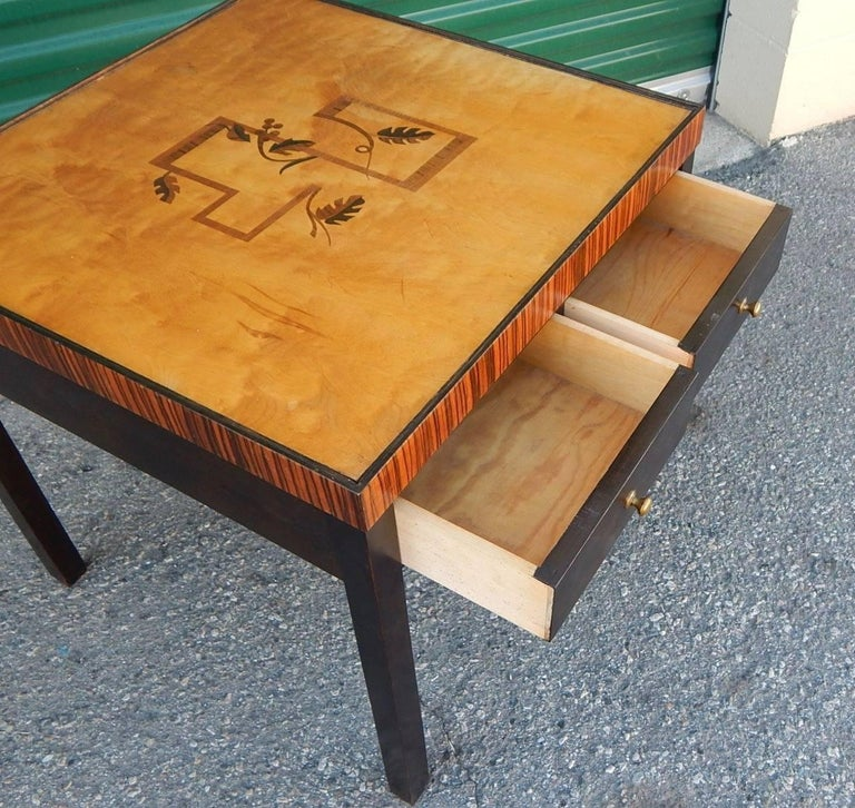 Swedish Art Deco Cubic Inlaid Side/End Table, circa 1930 For Sale 2