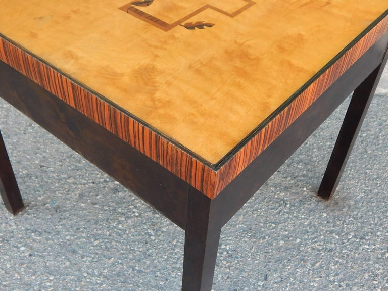 Swedish Art Deco Cubic Inlaid Side/End Table, circa 1930 For Sale 3