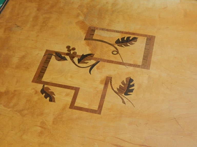Swedish Art Deco Cubic Inlaid Side/End Table, circa 1930 For Sale 4
