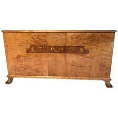 Swedish Art Deco Flame Birch Sideboard