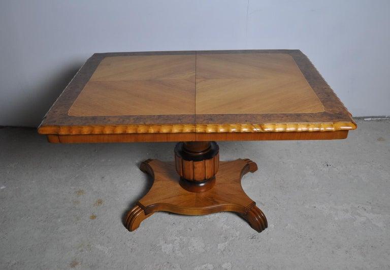 Swedish Art Deco Golden Elm Table, circa 1930 For Sale 6