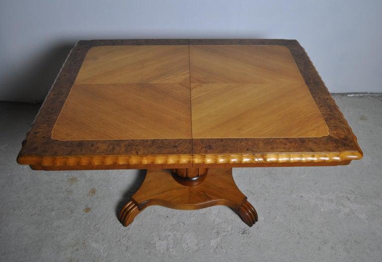 Swedish Art Deco Golden Elm Table, circa 1930 For Sale 7