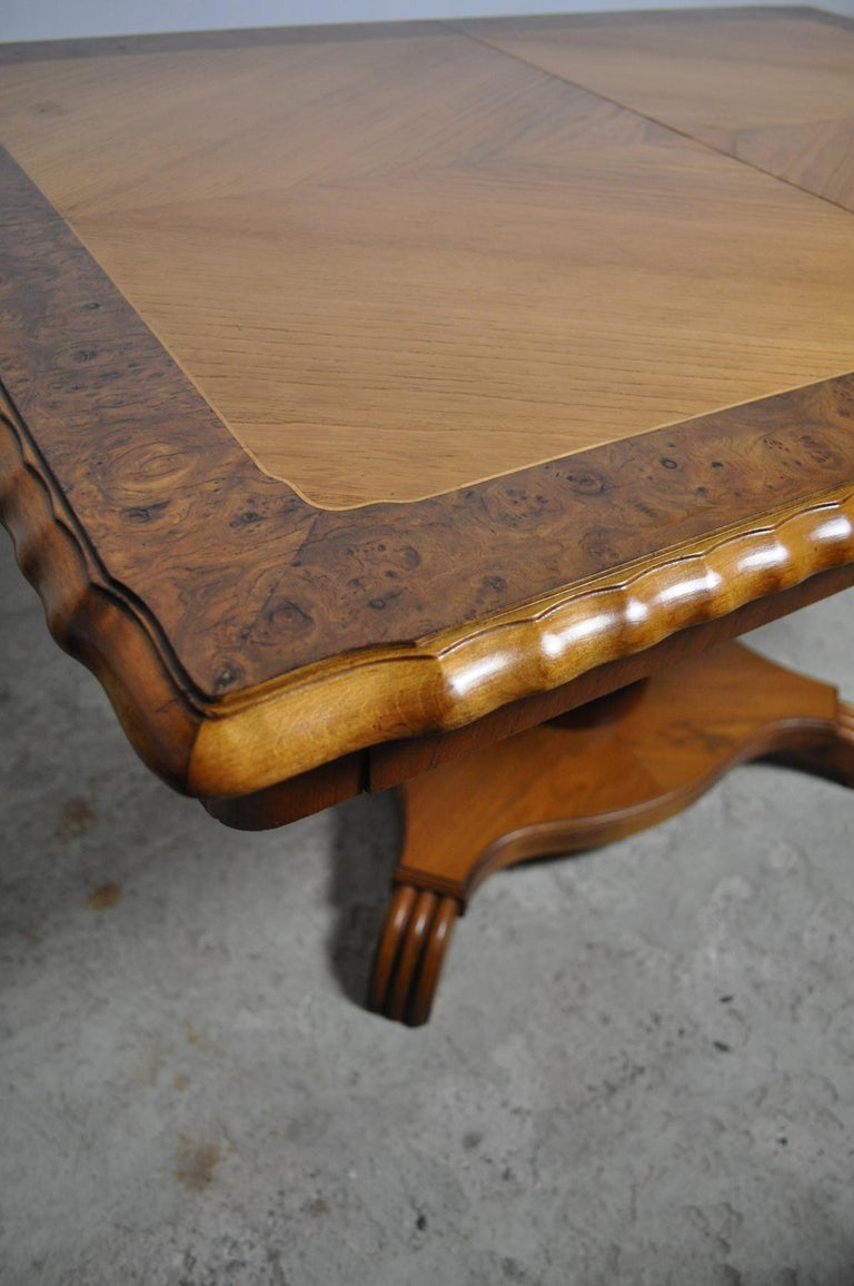 20th Century Swedish Art Deco Golden Elm Table, circa 1930 For Sale