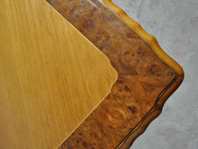 Birch Swedish Art Deco Golden Elm Table, circa 1930 For Sale