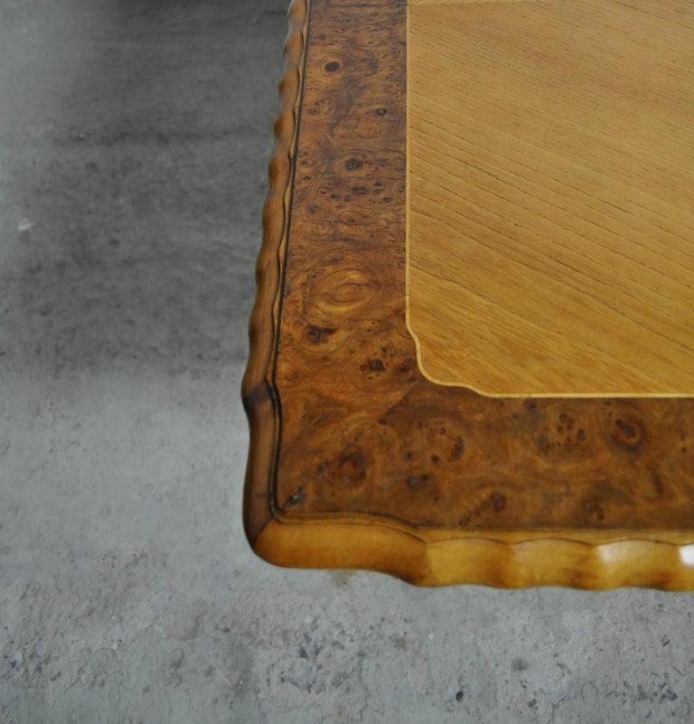 Swedish Art Deco Golden Elm Table, circa 1930 For Sale 1