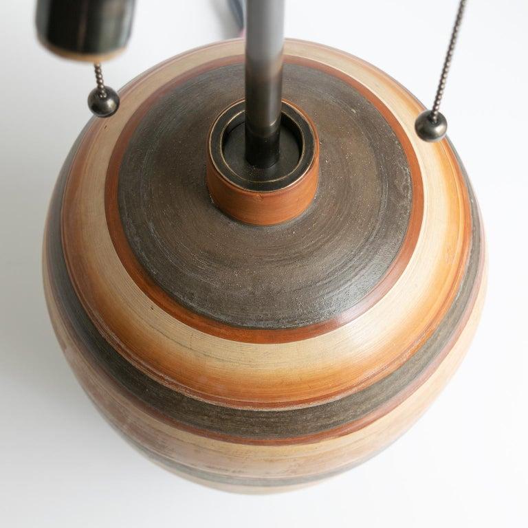 20th Century Swedish Art Deco Hand Thrown 1937 Ceramic Vase Lamp by Gudrun Slettengren For Sale