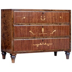 Swedish Art Deco Inlaid Birch Chest of Drawers