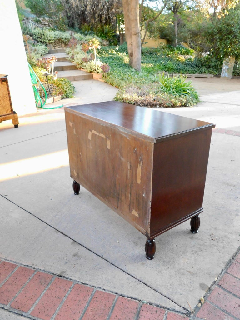 Swedish Art Deco Inlaid Chest of Drawers in Elm, Rosewood and Birch Root, 1930s For Sale 13