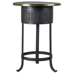 Swedish Art Deco Metal and Brass Round Table