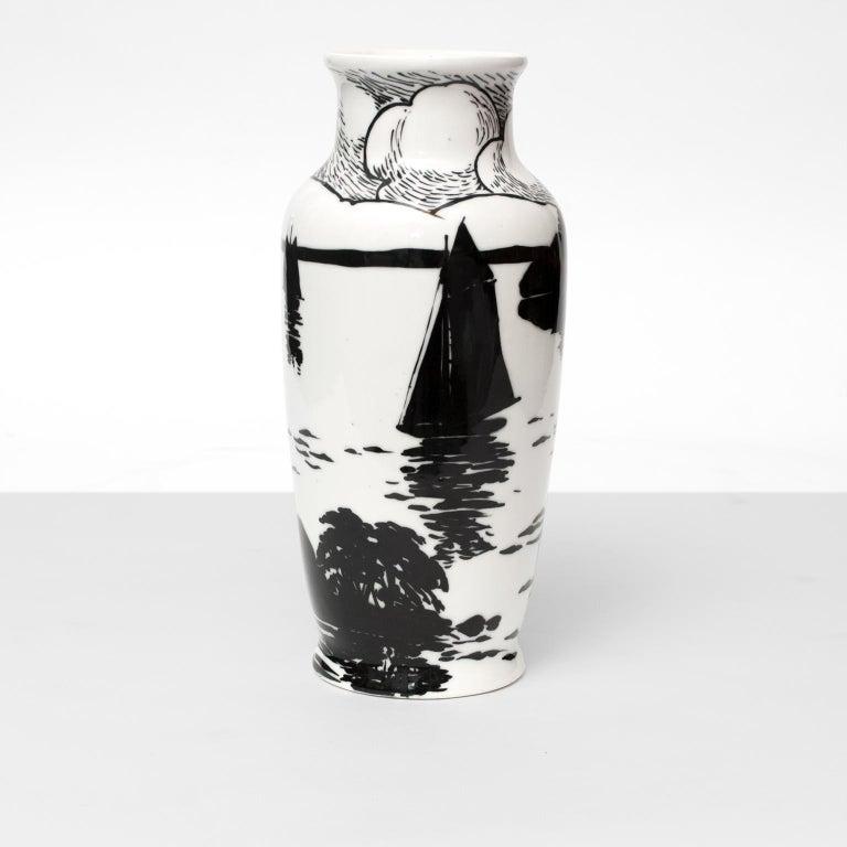 20th Century Swedish Art Deco Porcelain Vase by Algot Eriksson, for ALP, Lidkoping For Sale