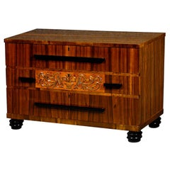 Swedish Art Deco Rosewood Chest of Drawers/Commode