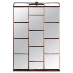Swedish Art Deco Stained Birch Paneled Mirror