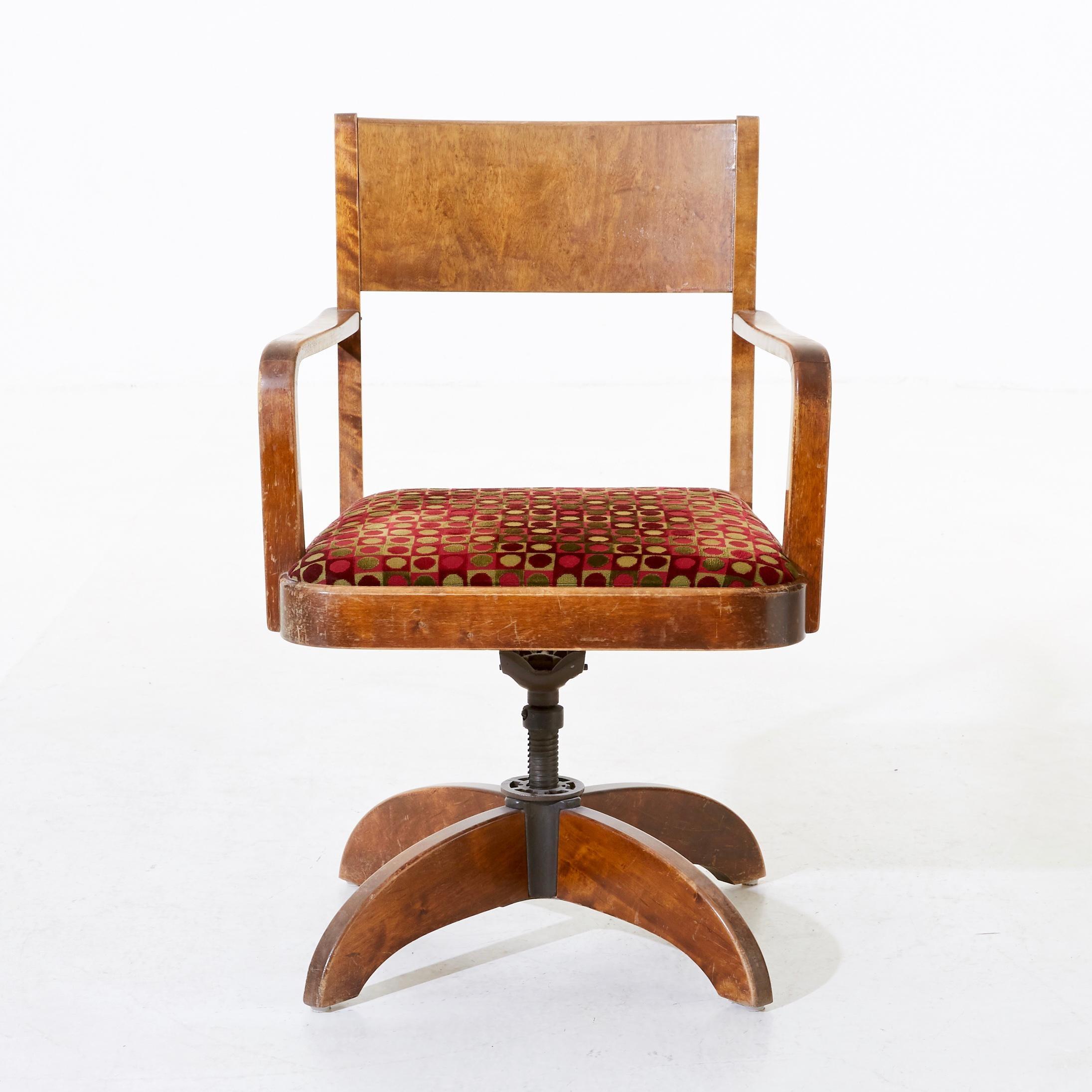 Swedish Art Deco Swivel Chair By G Ericsson For Royal