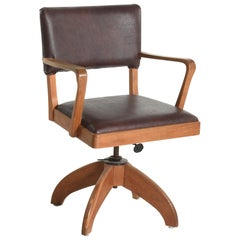 Swedish Art Deco Swivel Chair by Gunnar Ericsson for Facit Atvidaberg