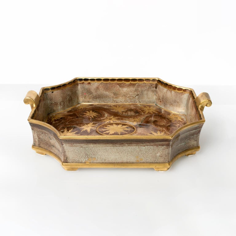 Swedish Art Deco Tray or Bowl by Josef Ekberg for Gustavsberg In Good Condition For Sale In New York, NY