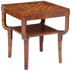 Swedish Art Deco Walnut and Birch Games Table, circa 1930s