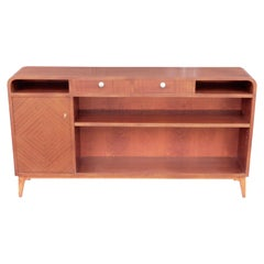 Swedish Art Modern Bookcase in Book Matched Mahogany, circa 1940