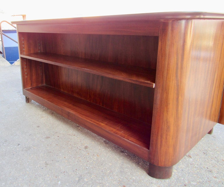 Mid-20th Century Swedish Art Moderne Desk in Walnut by circa 1940 For Sale