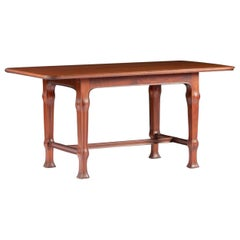 Swedish Art Nouveau Library or Dining Table, Attributed to Ferdinand Boberg