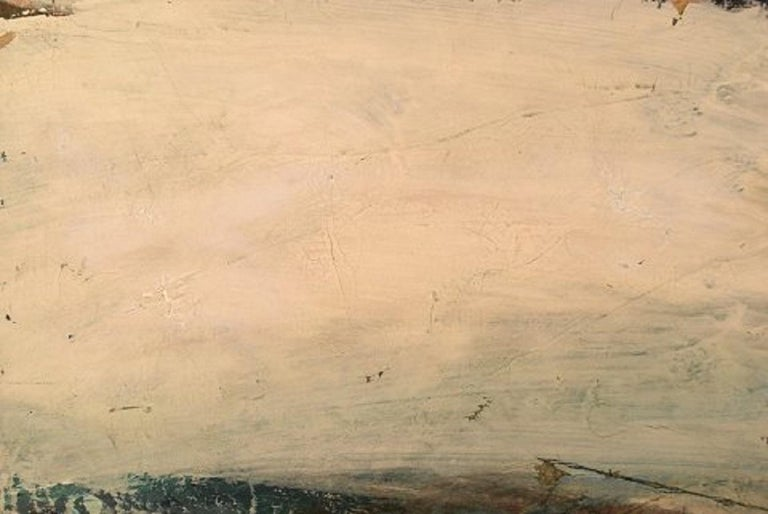 Mid-20th Century Swedish Artist, Oil on Board, Modernist Landscape, 1960s For Sale