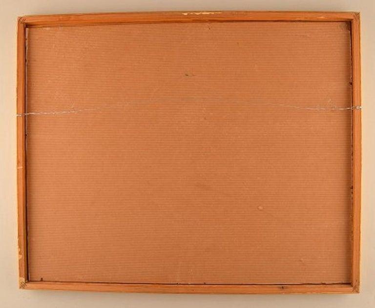 Swedish Artist, Oil on Board, Modernist Landscape, 1960s For Sale 1