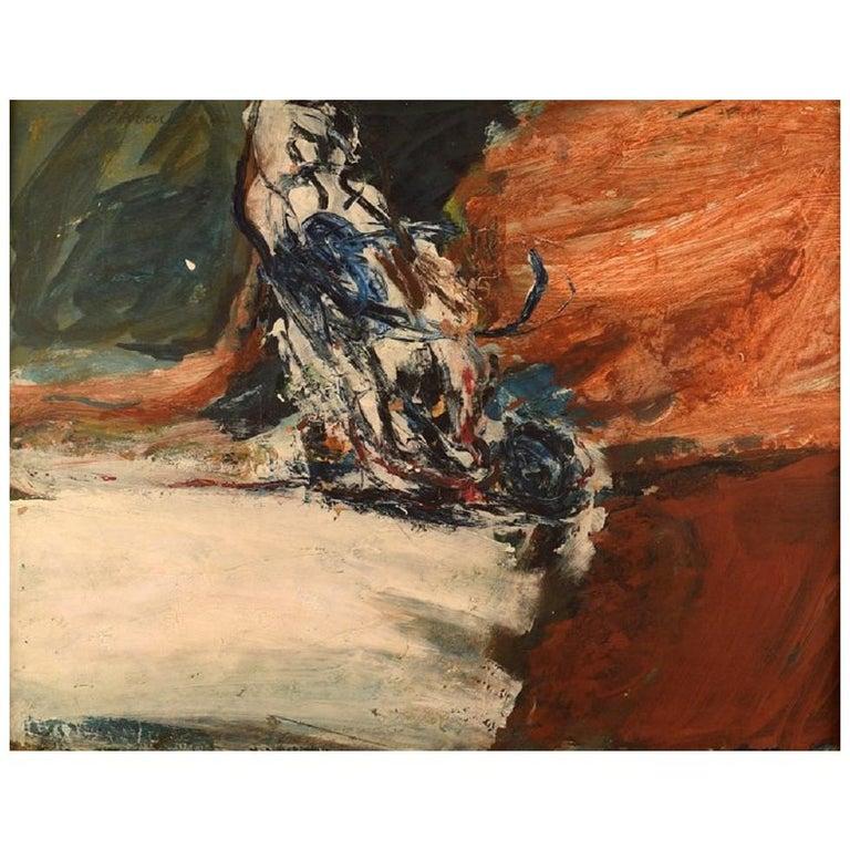 Swedish Artist, Oil on Board, Modernist Landscape, 1960s For Sale