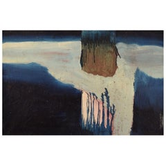 Swedish Artist, Oil on Canvas, Abstract Composition, 1960s