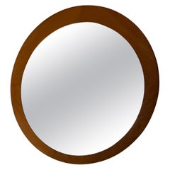 Swedish, Asymmetric Wall Mirror, Solid Teak, Glass, Sweden, 1960s