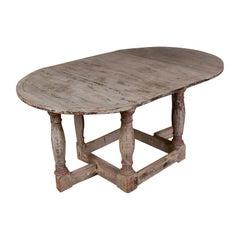 Swedish Baroque Drop-Leaf Table