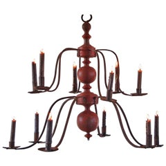 Swedish Baroque Iron Church Chandelier, circa 1680-1720