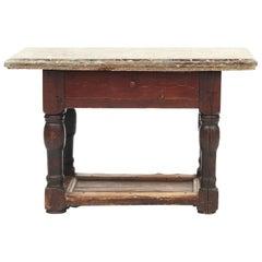 Swedish Baroque Table with Öland Limestone Top