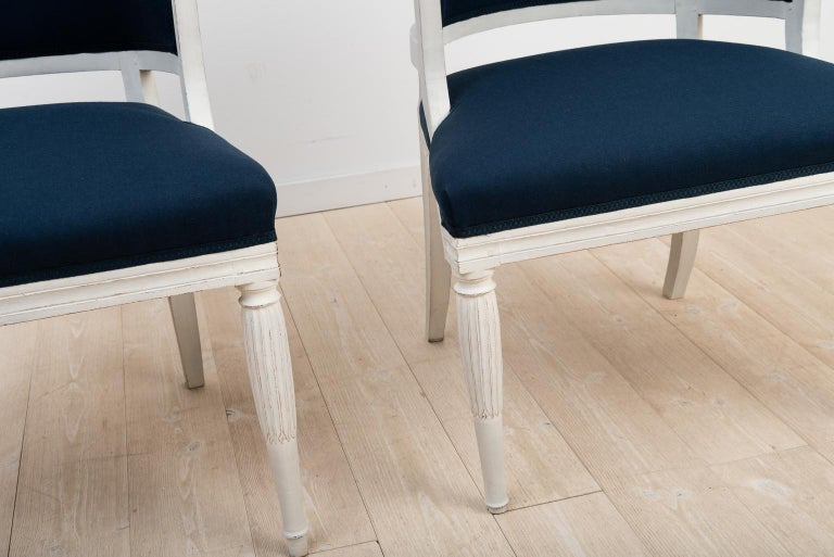 Swedish Barrel Back Chairs from the Early 19th Century For Sale 3