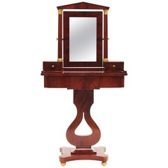Swedish Biedermeier Mahogany Dressing Table, circa 1820