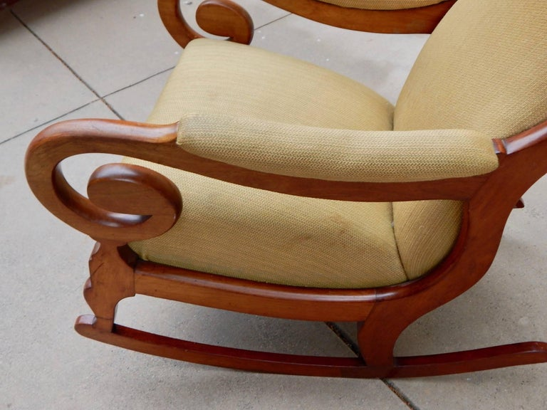 Swedish Biedermeier Rocking Chair, circa 1850 In Excellent Condition For Sale In Los Angeles, CA