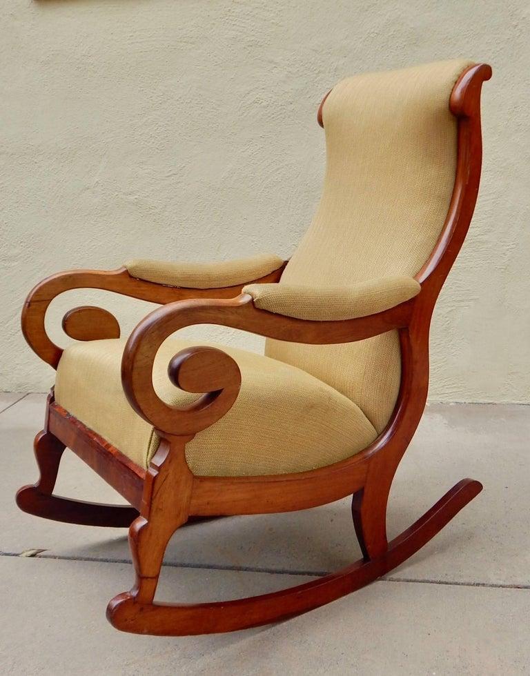 Mid-19th Century Swedish Biedermeier Rocking Chair, circa 1850 For Sale