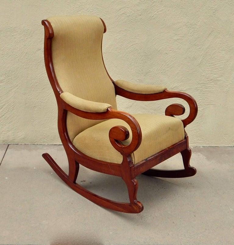 Swedish Biedermeier Rocking Chair, circa 1850 For Sale 1