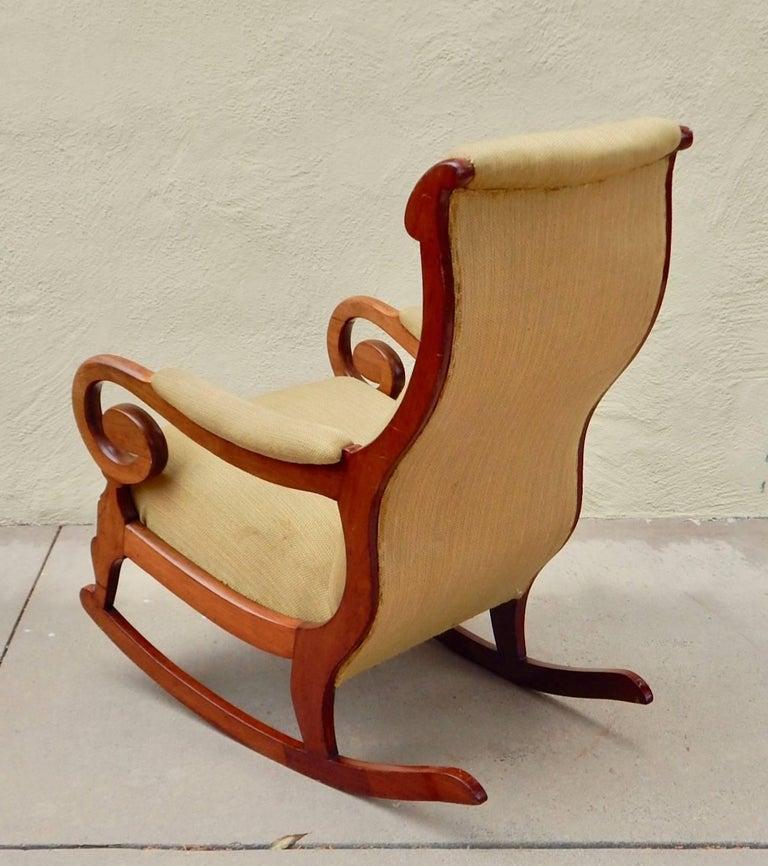 Swedish Biedermeier Rocking Chair, circa 1850 For Sale 2