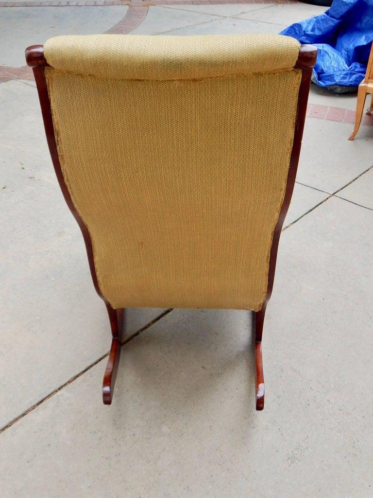 Swedish Biedermeier Rocking Chair, circa 1850 For Sale 4