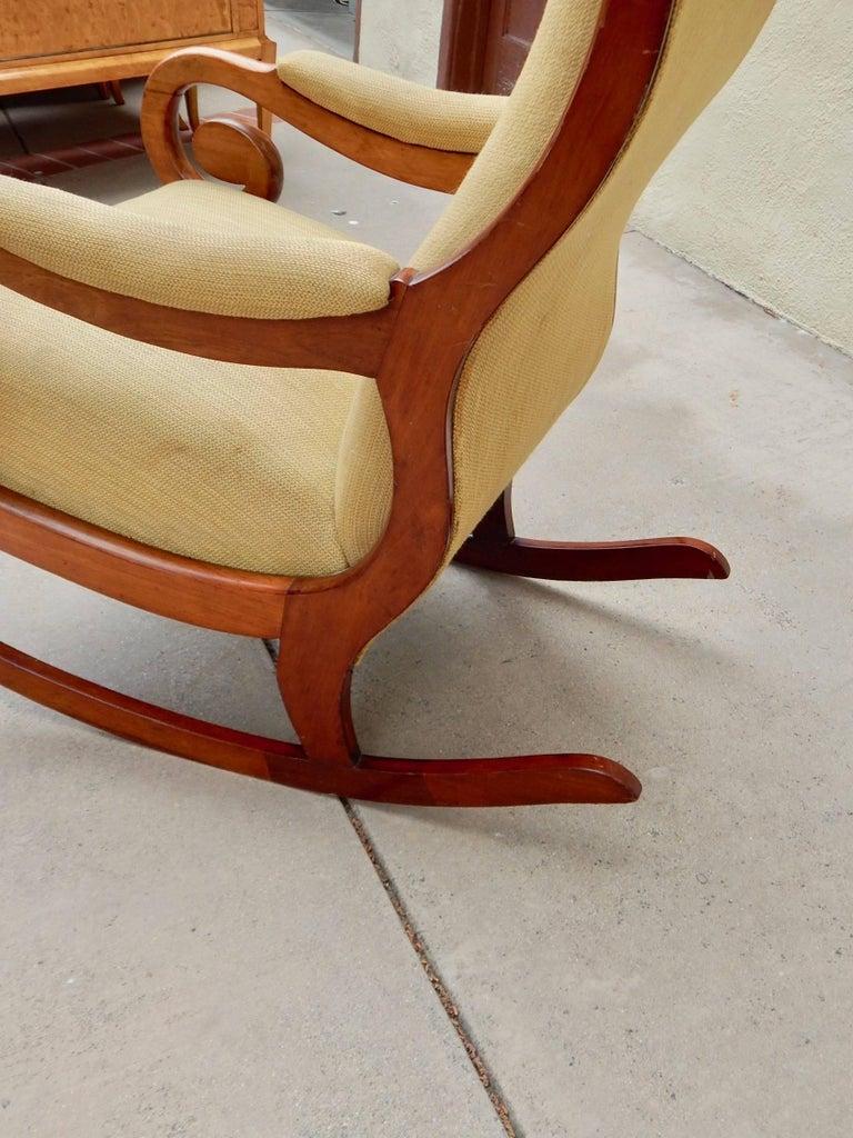 Swedish Biedermeier Rocking Chair, circa 1850 For Sale 5