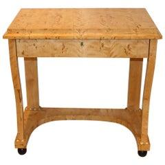 Swedish Birch Single Drawer Console Table, circa 19th Century