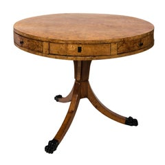 Swedish Birchwood Center Table, circa 1890