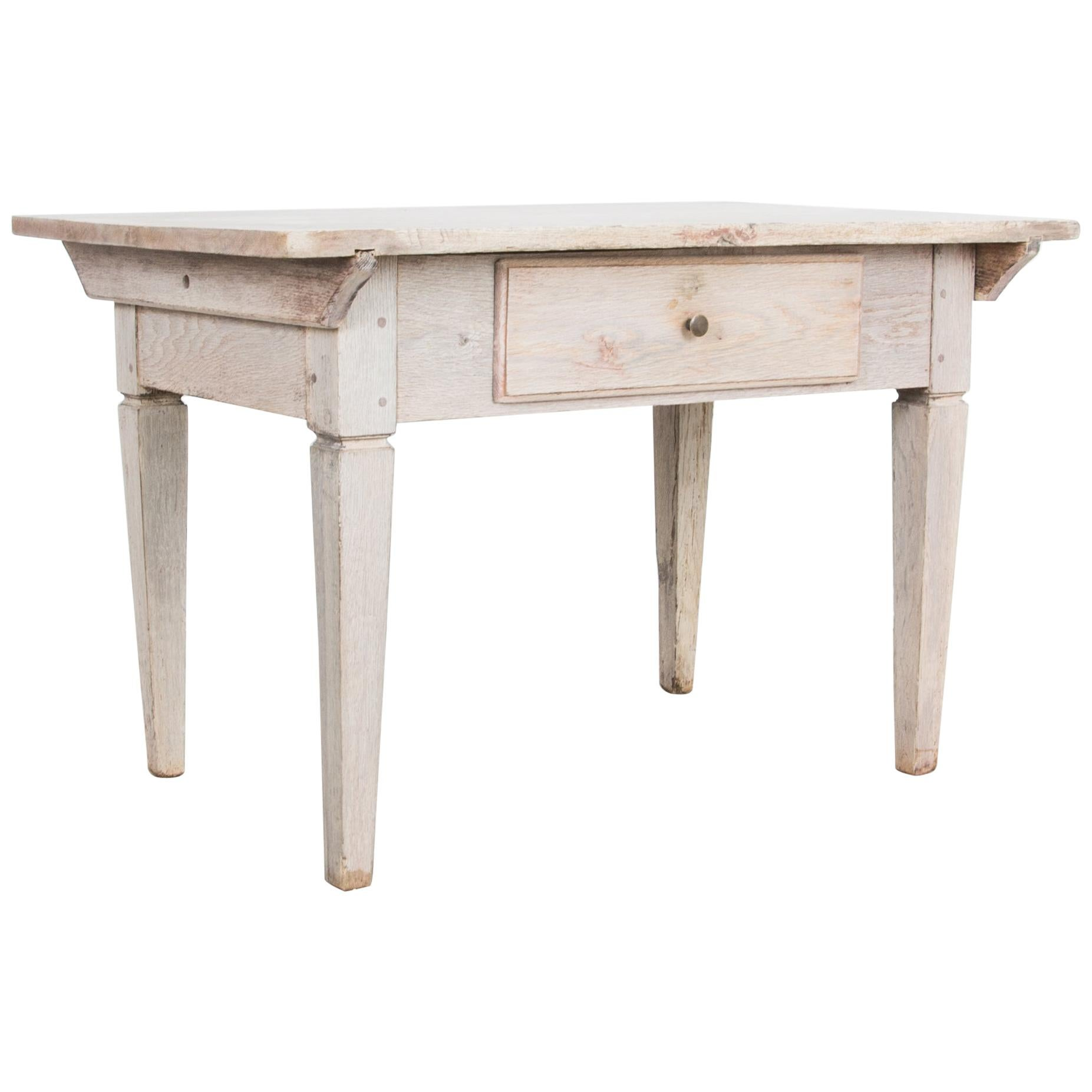 Swedish Bleached Oak Side Table