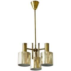 Swedish Brass Flushmount Ceiling Lamp, 1960s