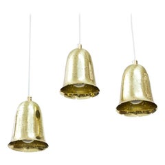 Swedish Brass Pendant Lamps by Boréns, 1950s, Set of 3