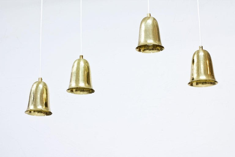 Polished Swedish Brass Pendant Lamps by Boréns For Sale