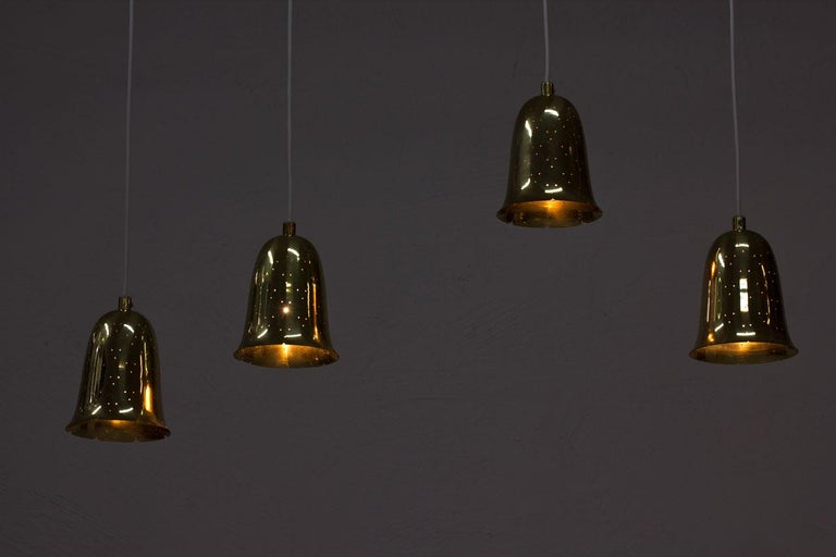 20th Century Swedish Brass Pendant Lamps by Boréns For Sale